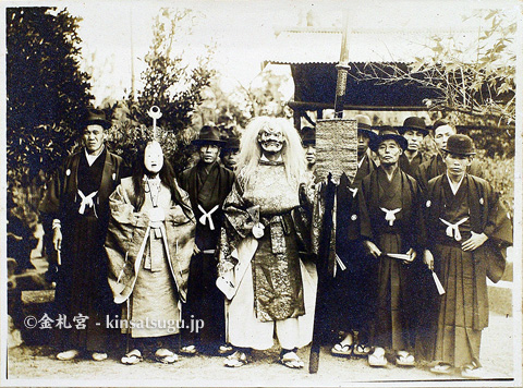 昭和三年の金札宮例祭の写真